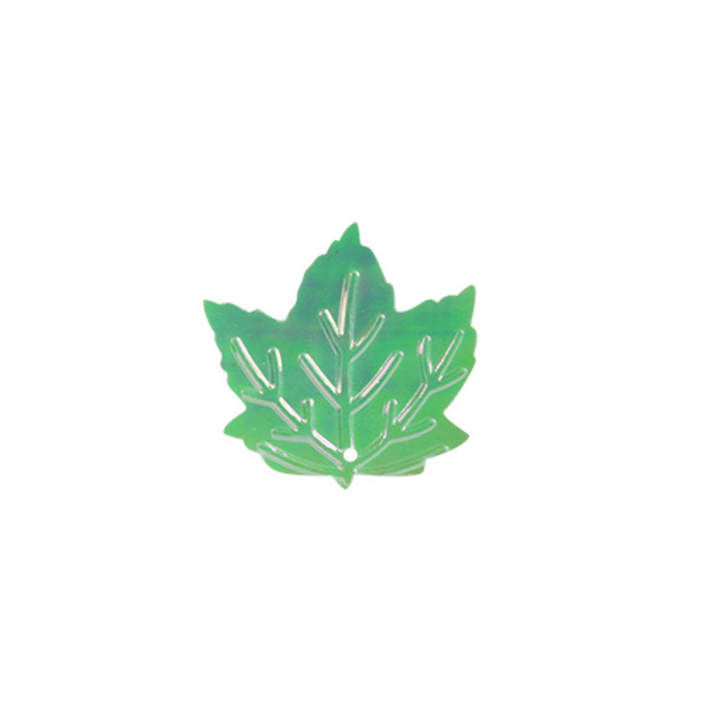 """Кленовый лист: Пайетки""""кленовый лист""""22*22мм.,упак/10гр.Астра(цвет:S17 салатовый с эффектом AB) в Редиант-НК"""