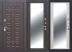 Входные двери (премиум)  от 90-110мм: Входная дверь  Монарх Зеркало в Пластиковые окна в Сургуте STEKLOMASTER